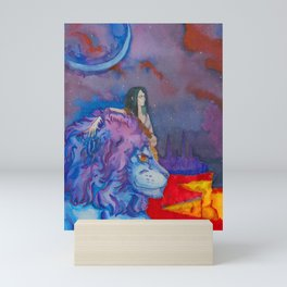 Solar Lion Mini Art Print