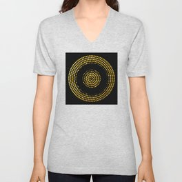 Abstract gold confetti Unisex V-Neck