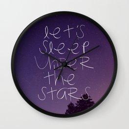 Let's sleep under the stars Wall Clock