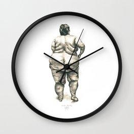mujer en la ducha Wall Clock
