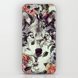 Floral Wolf iPhone Skin