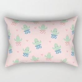 Happy cactus pattern Rectangular Pillow