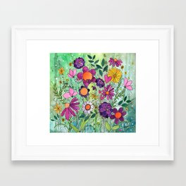 Purple Plum Parfait Framed Art Print