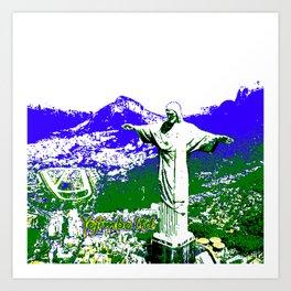 8-bit Rio Art Print
