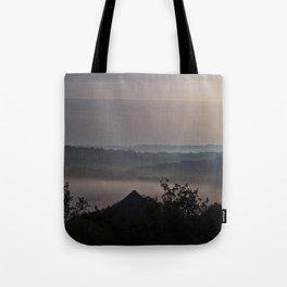 Foggy Summer Morning in France Tote Bag