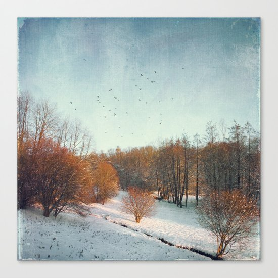 Trees in Winter II Canvas Print