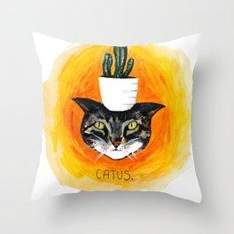 Catus. Throw Pillow