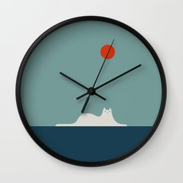 Cat Landscape 95 Wall Clock