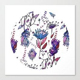 Protea Flower Lilac #homedecor Canvas Print