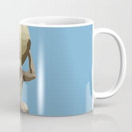 light blue Man with Big Ball Illustration Coffee Mug