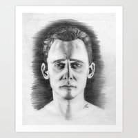 tom hiddleston Art Prints featuring Tom Hiddleston by LilKure