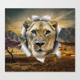 Lioness from Africa Canvas Print