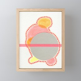 Contemplating My Colours Combination Framed Mini Art Print