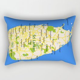 Sri Lanka Map Design Rectangular Pillow