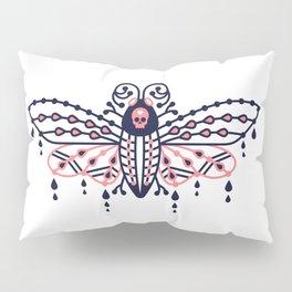 Death's Head Hawkmoth – Blush & Navy Palette Pillow Sham