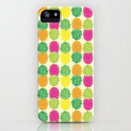 Pineapple Pop Pattern iPhone Case