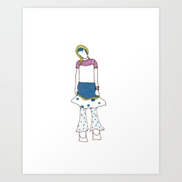 Makota Art Print