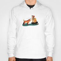 musa Hoodies featuring pet the dog by musa