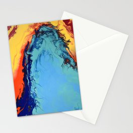 Colorful Celebration 2 Abstract Modern Fluid art Stationery Cards