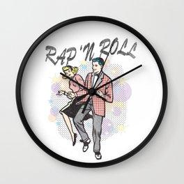 """Rap """"N Roll Wall Clock"""