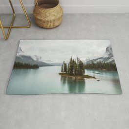 Emerald Spirit Island | Landscape Photography | Maligne Lake | Jasper Alberta Rug