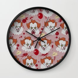 Pennywise pattern Wall Clock