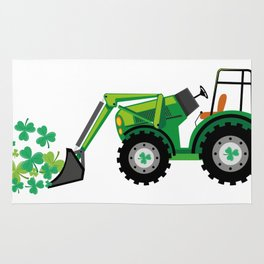 St. Patrick's Day Shamrocks Tow Truck For Boy Kids Rug