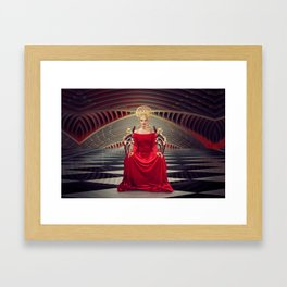 Queen of red Framed Art Print