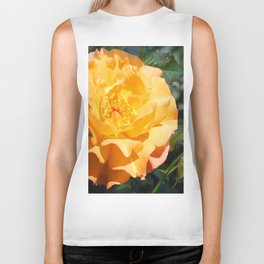 Yellow Summer Rose Biker Tank