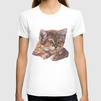 meow T-shirts featuring Meow by Emma Reznikova