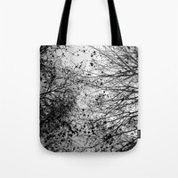 leaves Tote Bags featuring Branches & Leaves by David Bastidas
