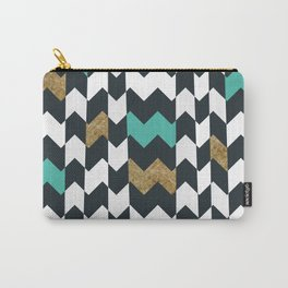 Chevron Pieces Carry-All Pouch