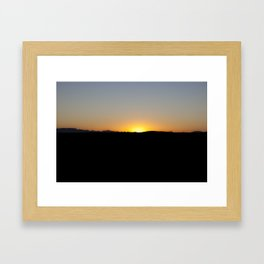 the sun will come out tomorrow Framed Art Print