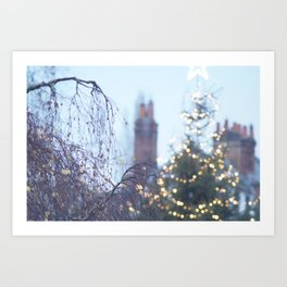Christmas Lights in Marlow Art Print