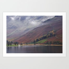 Cloud and autumnal colours. Buttermere, Cumbria, UK. Art Print