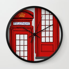 Telephone Booth Wall Clock