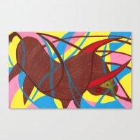 bull Canvas Prints featuring Bull by PrincessThunderHead