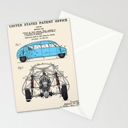 Motor Car Patent Stationery Cards