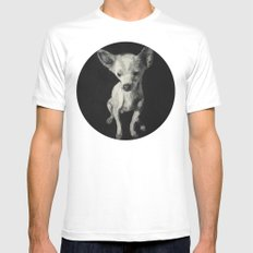 Chihuahua dog  White Mens Fitted Tee MEDIUM