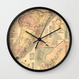 Map Of Cape May 1872 Wall Clock