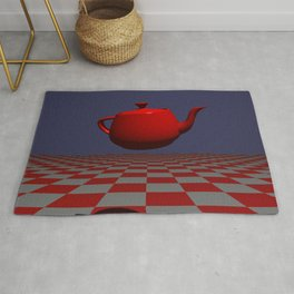 TEA POT POV RAY TRACING CGI 8000x6000 Pixels 32 Bit Color Palette Rug