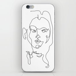 Lined Woman iPhone Skin