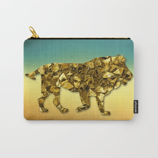 Animal Mosaic - The Lion Carry-All Pouch