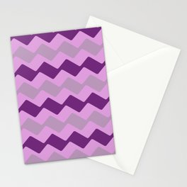 Purple Zig Zag Pattern Stationery Cards
