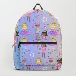 Fashion Girls Stars Dolls Backpack