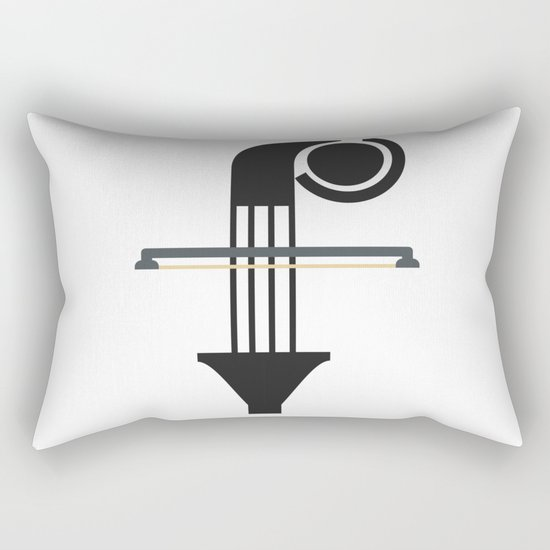 """F is """"F""""or music Rectangular Pillow"""