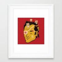 quentin tarantino Framed Art Prints featuring Quentin by Derek Eads