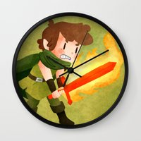 dungeons and dragons Wall Clocks featuring Dungeons, Dungeons, and More Dungeons by Sir-Snellby