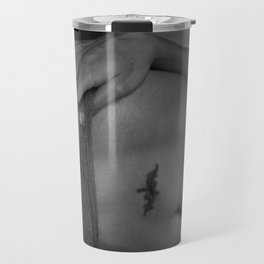 Beautiful Curves  of Woman in Lingerie Travel Mug