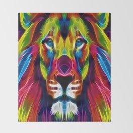 Colourful Lion Throw Blanket